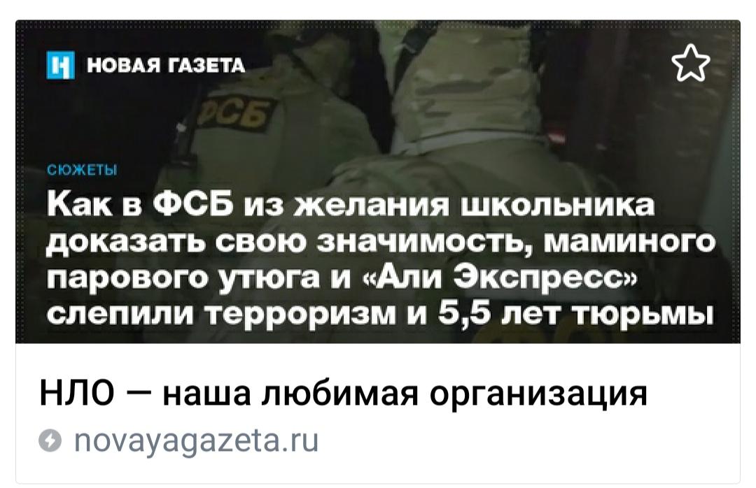 НЛО, ФСБ, МВД, СК временно победили: клиенту выписали приговор 5 лет 6 месяцев за фантазии